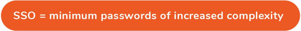 SSO = minimum passwords of increased complexity