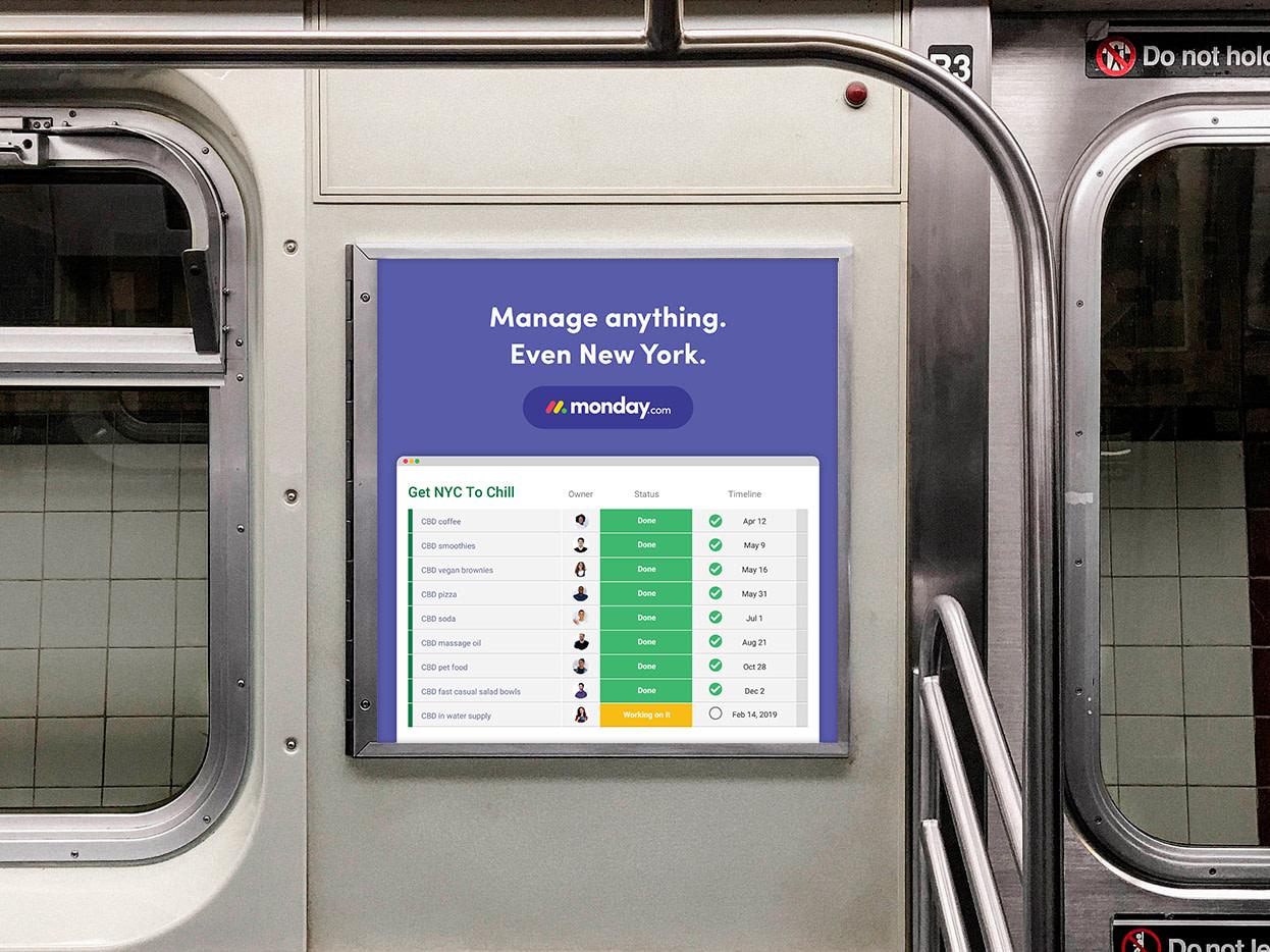 monday.com's NYC campaign