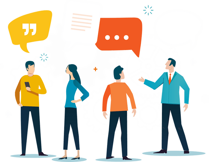 image of people communicating