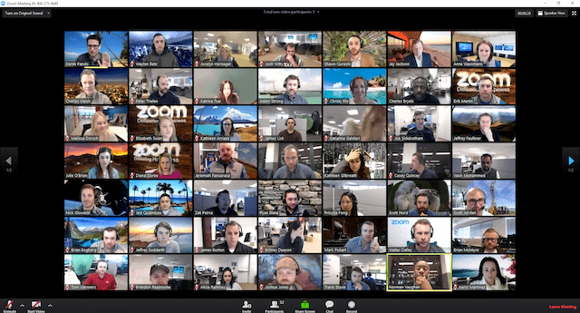 Zoom meeting with over 50 participants