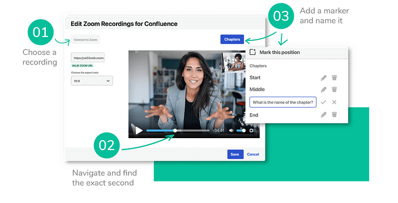 Insert Zoom recordings in Confluence