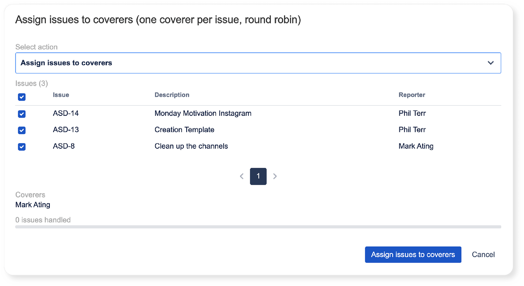 Assignment of existing Jira issues to an additional owner