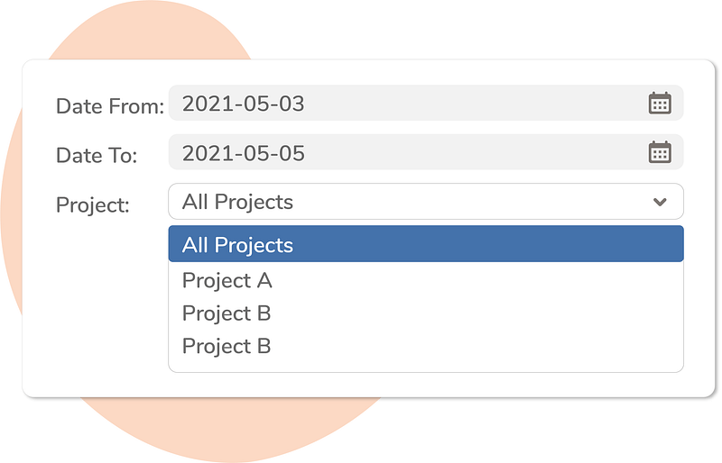 Define out of office dates and applicable projects